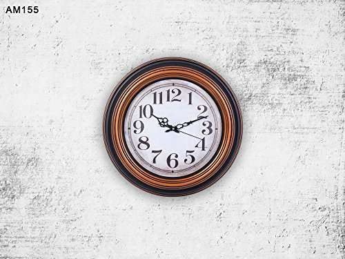 Cheap Smartsense 15 Inches Wall Clocks Designer Silent Non-Ticking Quartz Wall Clock Decorative Indoor Kitchen Clock, 3D Numbers Display,