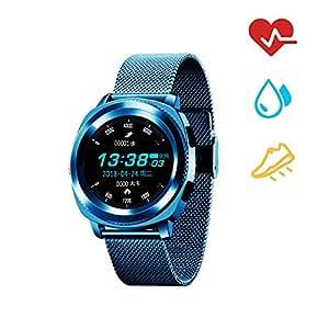 Fitness Tracker, Bluetooth Impermeable Fitness Reloj inteligente ...