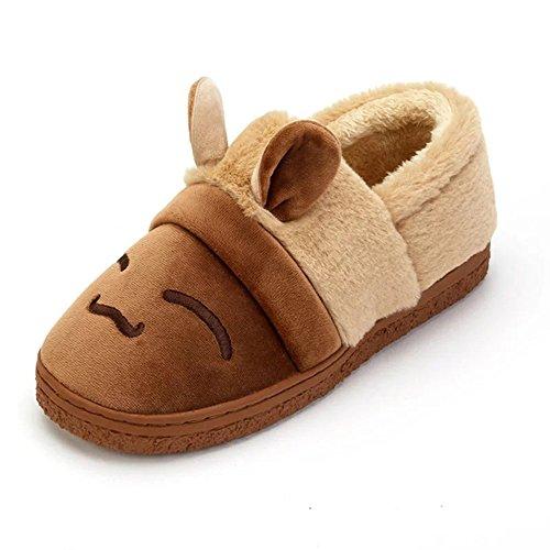 Scarpe Di Cotone Unisex Di Bininbox Calde Pantofole Per Cani Al Coperto Di Coniglio Color Kaki