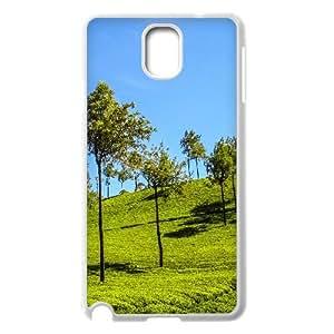 {Funny Series} Samsung Galaxy Note 3 Case Munnar Hills, Antislip Case Okaycosama - White