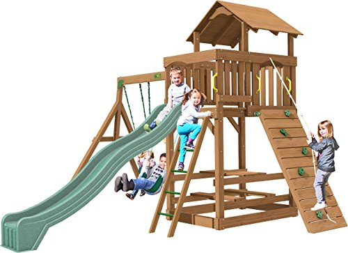 Creative Playthings (Playtime Series) Spring Hill Swing Set Made in the USA (Playtime Swing Set Series)