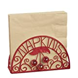 Grasslands Road Summer Kitchen 7-Inch by 3-3/4-Inch by 4-Inch Cherry Napkin Holder