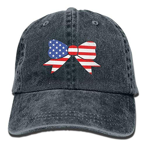 Bow Denim Caps Soy béisbol Snapback American Baseball Flag Gorras Hat Adjustable Como Tu No Male 081Fq