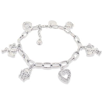 Bettelarmband  Bettelarmband Schutzengel mit Kristallen von Swarovski® Silber ...