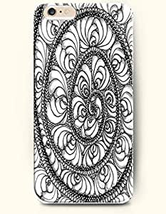 diy phone caseSevenArc Apple iPhone 6 Plus 5.5' 5.5 Inches Case Paisley Pattern ( Black and White Circles Made By Flowers )diy phone case