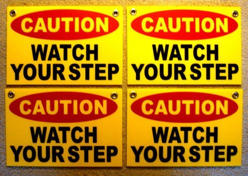WestGlobal  CAUTION WATCH YOUR STEP Coroplast SIGNS with Gro