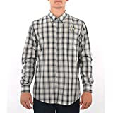 Cutter & Buck New Orleans Saints North Point Plaid Button Down in Black and Grey