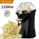Best Popcorn Poppers - Popcorn Popper, Hot Air Popcorn Maker, 1200W Popcorn Review