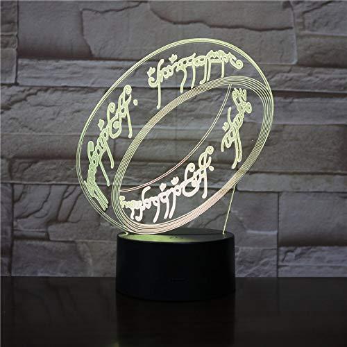 il Signore degli Anelli ESDLA cambia colore USB luce notturna WoloShop Lampada LED ad anello unico