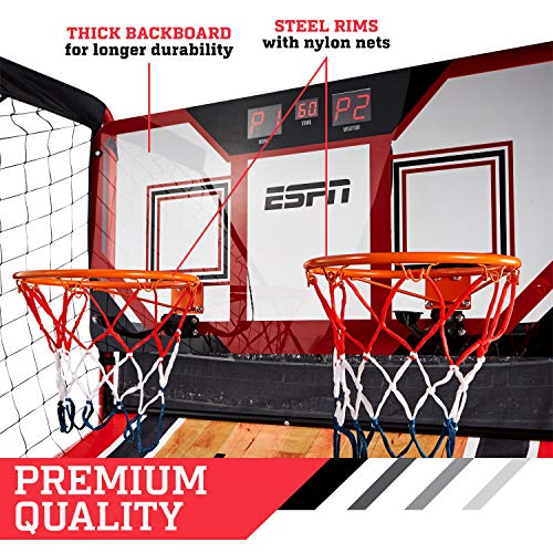 ESPN EZ Fold 2 player Basketball Game with Polycarbonate Backboard and LED Scoring by ESPN (Image #5)