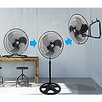 Kool-it 3 in 1 Premium Large High Velocity Industrial Black Floor Fan 18 Floor Stand Mount Oscillating