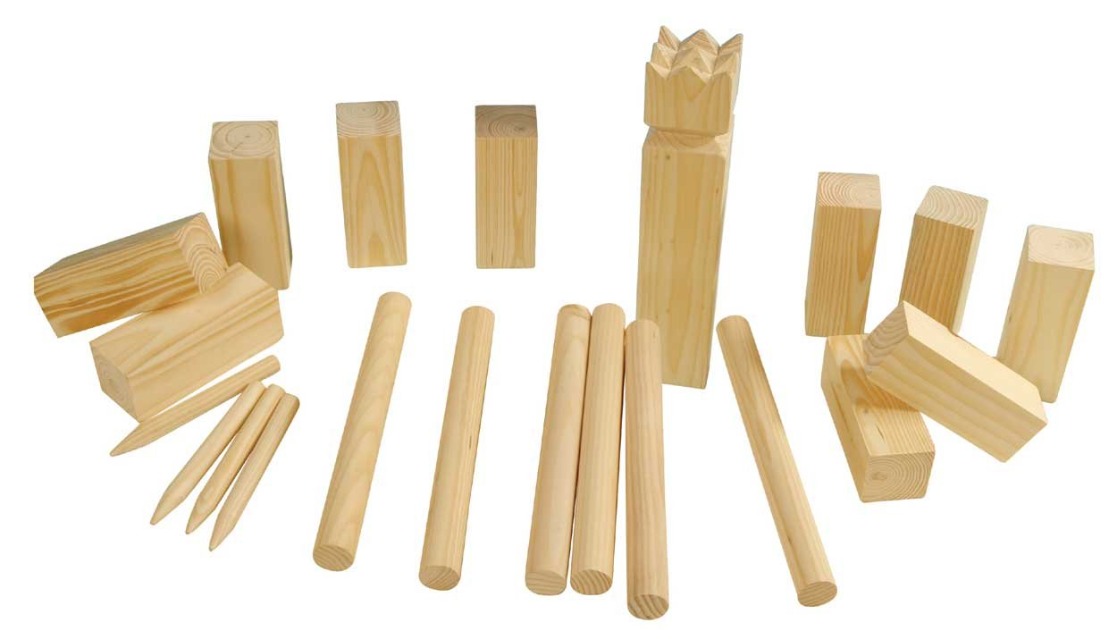 Eliware Kubb Echt-Holz Wikinger Spiel Wurfspiel 21tlg. Unknown