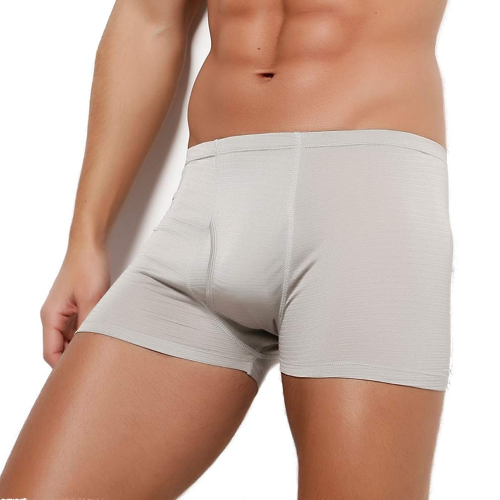 Forever Angel Mens 100/% Silk Knitted Boxers Shorts Briefs
