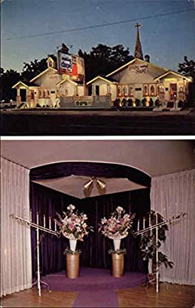 Golden Wedding Chapel Reno Nevada Original Vintage Postcard At