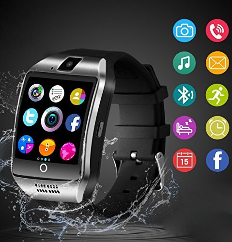 Bluetooth Smart Watch With Camera TF/SIM Card Slot for Android and IPhone Smartphones Waterproof Smartwatch Touch Screen for Kids Girls Boys Men Women by Funchares (Image #1)