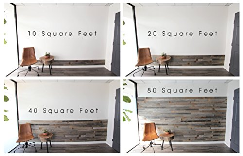 Amazon.com: Reclaimed Barn Wood Wall Panel- Easy Peel and Stick Application  (40 Sq Ft, Whitewashed Barn Wood): Home & Kitchen - Amazon.com: Reclaimed Barn Wood Wall Panel- Easy Peel And Stick