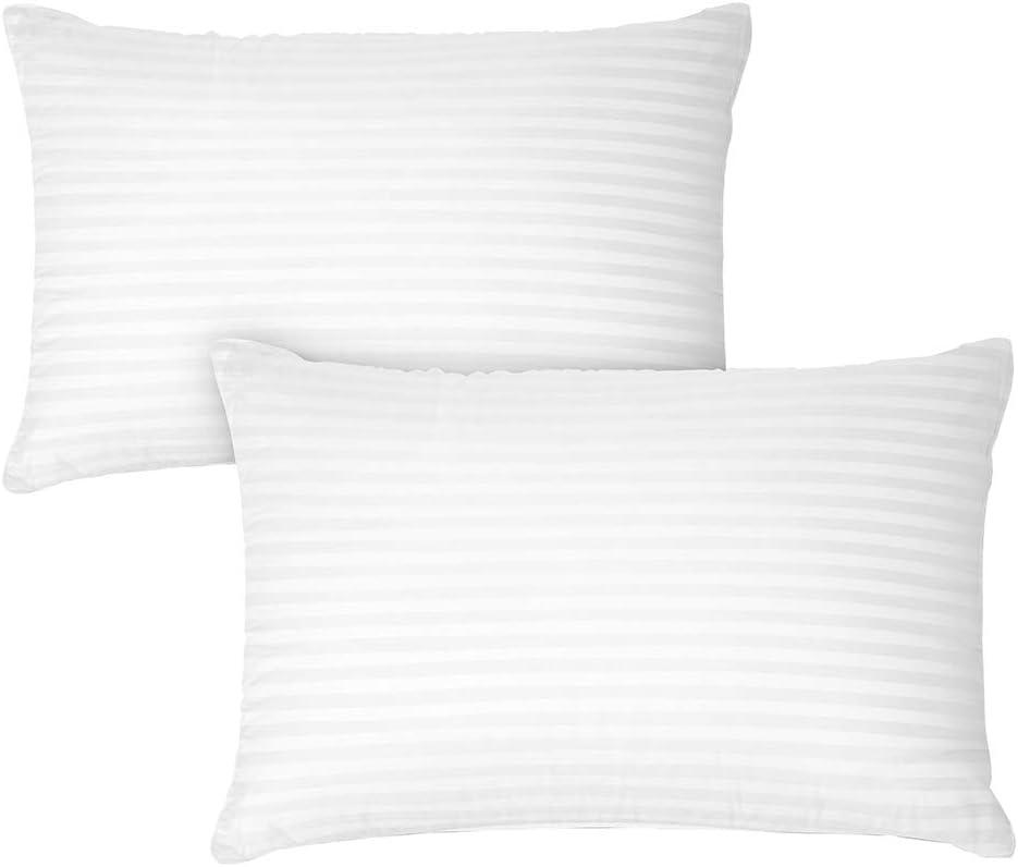 4 X Luxury Deluxe Pillows Super Bounce Back Pillows Hollow Fibre Filled Pillow