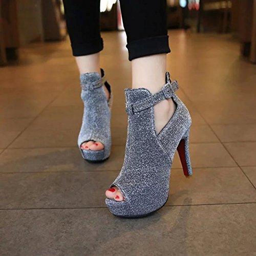 35 Beaut De Avec La Yalanshop 2015 Femme Europennes Chaussure Ultra Chaussures Des Argent Nouvelle p4q6g