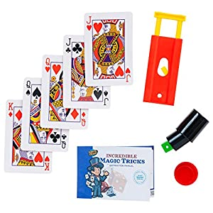 Learn & Climb Magic Tricks Kids Ages 7,8,9,10-Set of 3 Unique Props kit Includes Tube & Dice Trick, Finger Chopper Trick, Magical Mind Reading Cards Illusion & Easy to Follow Instructions.