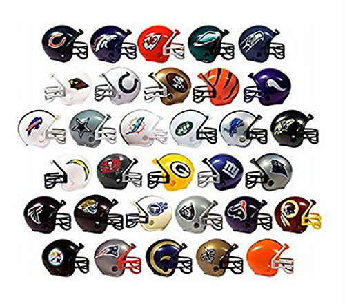 - NFL Collectible 32 Teams Mini Helmets Set, 2-inch Each