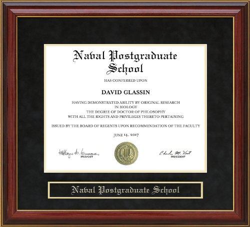 Naval Postgraduate School (NPS) Diploma Frame - Mahogany | Wow In ...