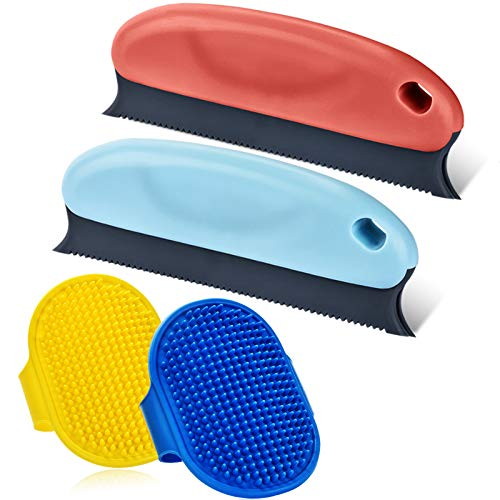 4PCS-Premium-Pet-Hair-Remover-for-Couch-Cat-Dog-Hair-Remover-Set-Professional-Pet-Hair-Remover-Brush-Comb-for-Cleaning-Carpets-Sofa-Furniture-and-Car-Interiors-2-Dog-Grooming-Brushes
