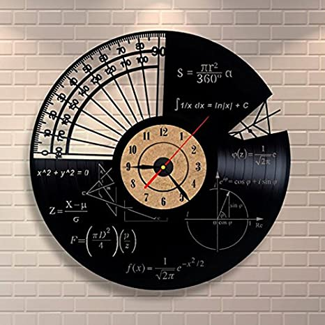 Türign® Relojes de Pared Reloj De Cuarzo Fórmula Matemáticas de aushöhlung mesa Relojes, Reloj, Reloj de pared: Amazon.es: Hogar