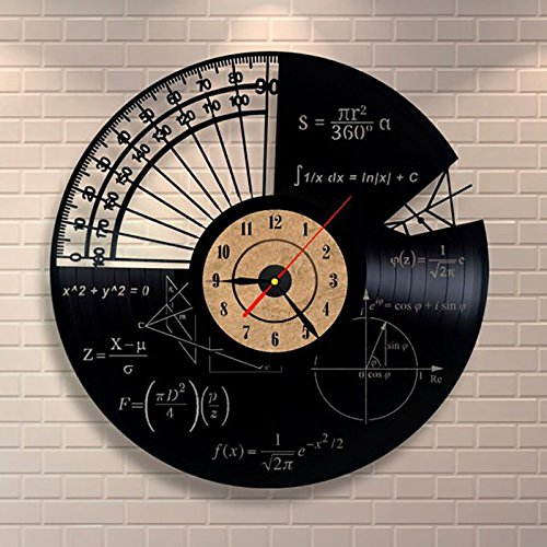 Jedfild The lovely art wall clock Math formula exposed