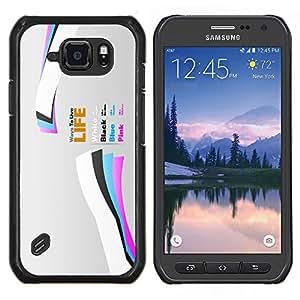"""Be-Star Único Patrón Plástico Duro Fundas Cover Cubre Hard Case Cover Para Samsung Galaxy S6 active / SM-G890 (NOT S6) ( Vida"""" )"""