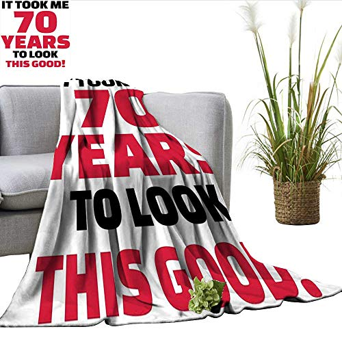 smllmoonDecor 70th Birthday Summer Blanket Party Theme with