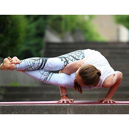 Amazon.com: Dingji Women Printed Sports Yoga Workout Fitness Exercise Slim Elastic Wist Athletic Pants: Clothing