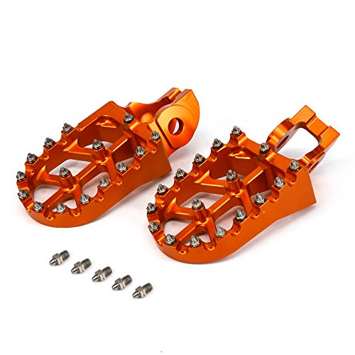 JFGRACING CNC MX Foot Pegs Footpegs Rest Pedals For KTM 85-530 SX SXF EXC EXCF XCF XCW 2016-2018
