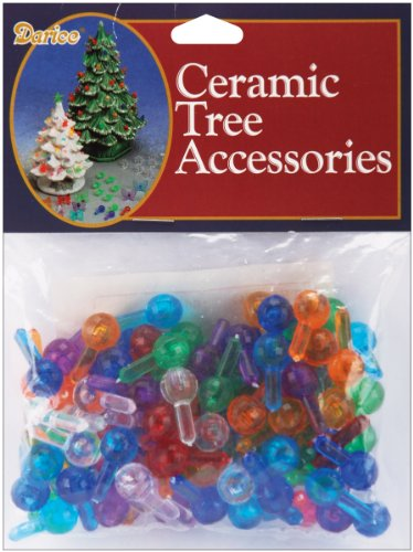 Darice Ceramic Christmas Tree Bulbs .5