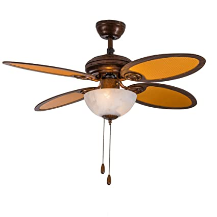 Tropicalfan rustic ceiling fan with 1 glass light cover indoor home tropicalfan rustic ceiling fan with 1 glass light cover indoor home dinner room bedroom simple cute aloadofball Images