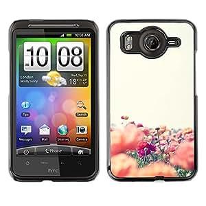 Caucho caso de Shell duro de la cubierta de accesorios de protección BY RAYDREAMMM - HTC G10 - Colorful Field Flower Nature