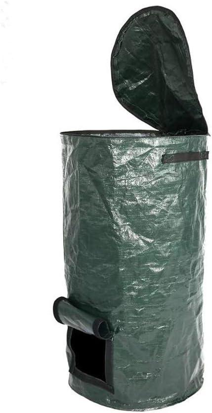 80CM Environmental Compost Bag Planter Kitchen Waste Disposal Compost Bag Remains Bin for Garden Yard,45 Homemade Organic Ferment PE Compost Bag