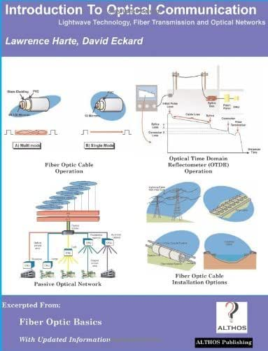 Introduction to Optical Communication, LightWave Technology, Fiber Transmission, and Optical Networks by Lawrence Harte (2005-11-20)