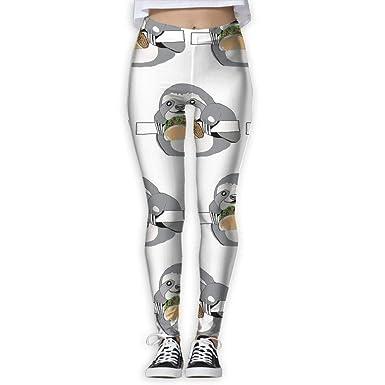 sushen Sloth Tacos Pantalones de yoga de bolsillo de cintura ...