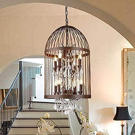 Moderna jaula de cristal candelabro Lámpara colgante Lámpara de ...