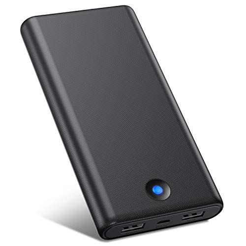 🥇 VOOE Batería Externa Móvil Power Bank 25800mAh [Diseño Anti-Huella Digital] Carga Rápida Cargador Portátil con 2 Puertos USB para iPhone iPad Samsung Dispositivos Android Tablets Nintendo Switch y Más