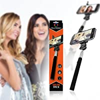Best Selfie Stick Handheld Self-Portrait Monopod by Celltronix - Universal & Extends from 9