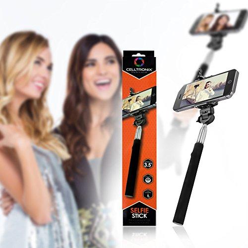 Best Selfie Stick Handheld Self-Portrait Monopod by Celltronix - Universal & Extends from 9