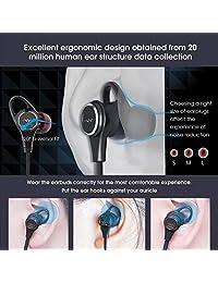 Activo de cancelación de ruido auriculares, LINNER NC25 en la oreja Auriculares Negro