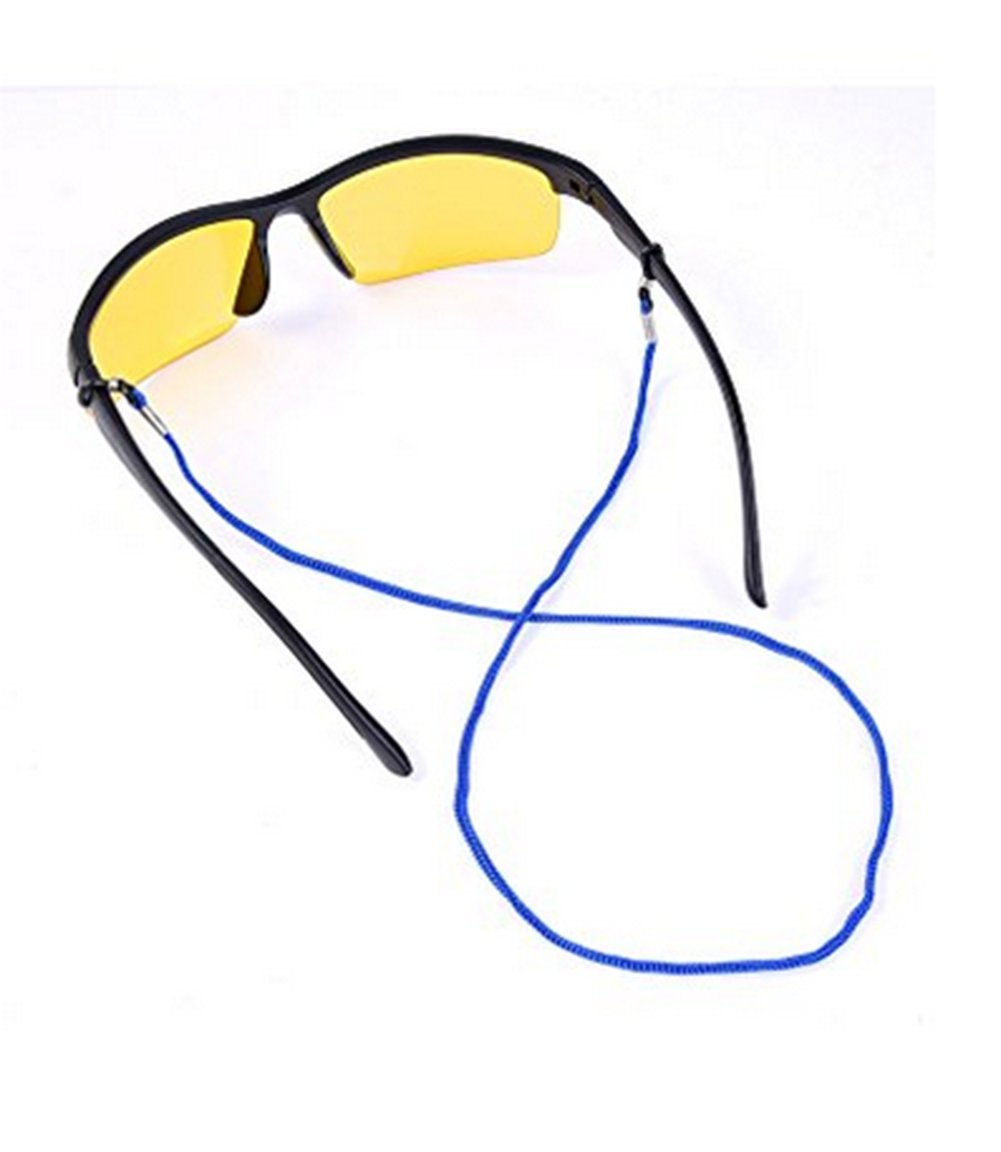 feb82b7023 Cdet 12X Gafa de Cuero Anillos de Gafas de Moda Gafas presbyopic Cuerdas  Antideslizantes Colores Lentes para los niños Anti -Perdidos Color al Azar:  ...