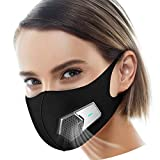Smart Electric Masks Fresh Air Purifying Mask Anti Pollution Mask N95 for Exhaust Gas, Pollen Allergy, PM2.5, Running, Cycling and Outdoor Activities (Black, mask)