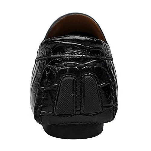 Xiaoyaoma Mens Slip On Informal Dress Career Leather Loafers Shoes Black1 3yycZ