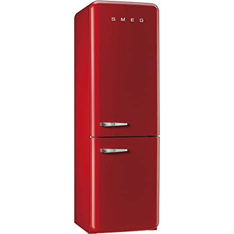 Smeg FAB32RRN1 Freestanding 304L A++ Red fridge-freezer - Fridge ...