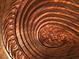 "UNIQUE Wooden Collapsible Fruit Basket His/Her Gift Love Elegant Foldable Fruit Basket Leaf Wooden Hand Crafted - Diameter 12"""