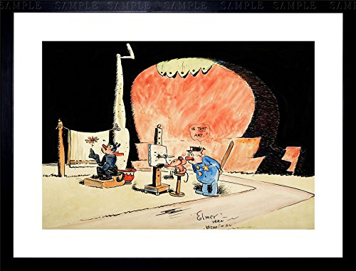 KRAZY KAT WITH DAISY MOUSE GEORGE HERRIMAN CARTOON COMIC FRAMED PRINT F97X10389 (Daisy Krazy)