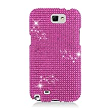 Aimo Wireless SAMNOTE2PCDI003 Bling Brilliance Premium Grade Diamond Case for Samsung Galaxy Note 2 N7100 - Retail Packaging - Hot Pink